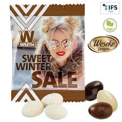 Amande publicitaire vanille ou chocolat
