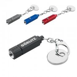 Porte-clés lampe LED et jeton