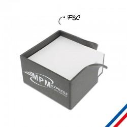 Support bloc papier personnalisé  en matière recyclée