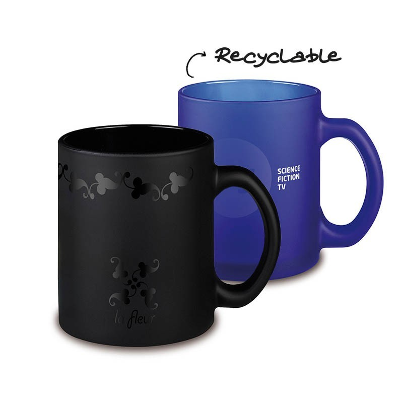 mug frozen colour personnalis avec votre logo 2 coloris. Black Bedroom Furniture Sets. Home Design Ideas
