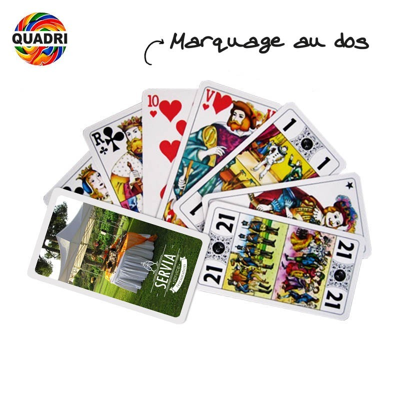 jeu de 78 cartes personnalis avec votre logo jeu de tarot. Black Bedroom Furniture Sets. Home Design Ideas
