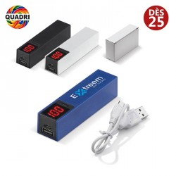 Powerbank publicitaire avec Indicateur Charge