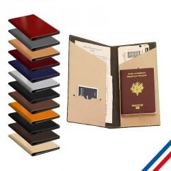 Pochette cuir recyclé - Fabrication française