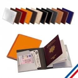 Etui à passeport en cuir