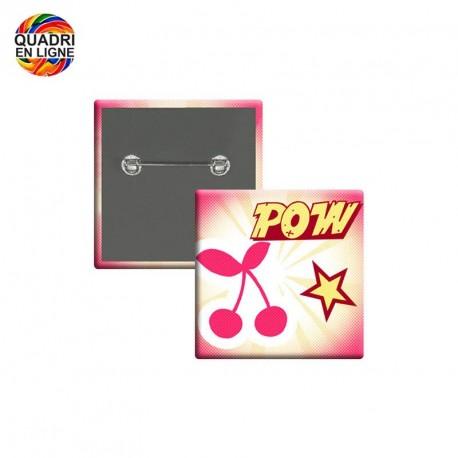 Badge carré 30x30mm