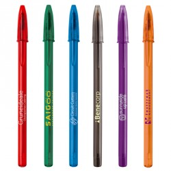 Stylo BIC® Style Clear bille personnalisé
