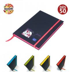 Carnet A6 tranche colorée - Soft Touch