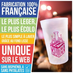 Gobelet plastique reutilisable france plastique eco25-sim-val-dem