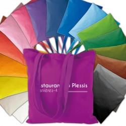"""Sac coton publicitaire 220 g/m2 """"shopper"""" couleur"""