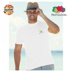 T-shirt Fruit of the Loom Blanc publicitaire marquage Coeur