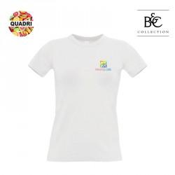 T-shirt B&C blanc personnalisé 190 g/m² Femme
