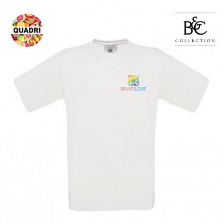 T-shirt B&C blanc publicitaire 190 g/m² Homme