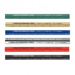Règle Kutch publicitaire 3 côtés 15 cm