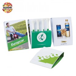 Kit de 4 tees de golf publicitaire
