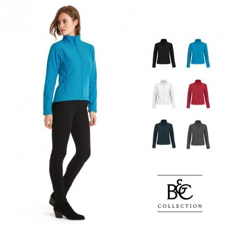 Veste softshell publicitaire B&C pour femme