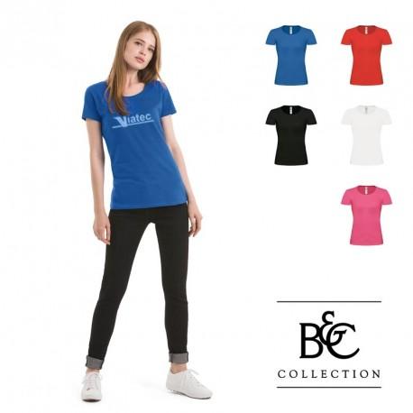 T-shirt femme col bateau B&C personnalisé