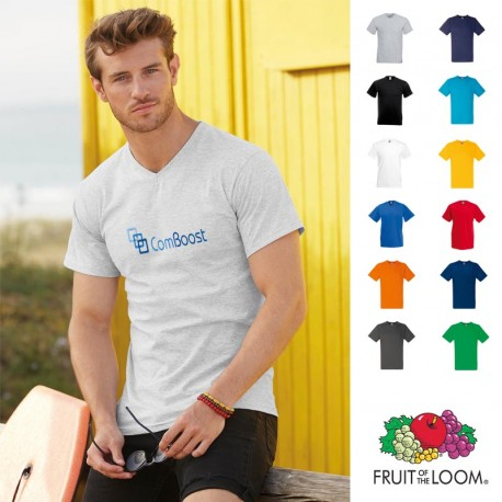 T-shirt personnalisé col V homme Fruit of the Loom