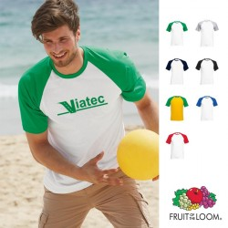 T-shirt baseball publicitaire bicolore Fruit of the Loom