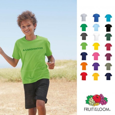 T-shirt publicitaire pour enfant Fruit of the Loom