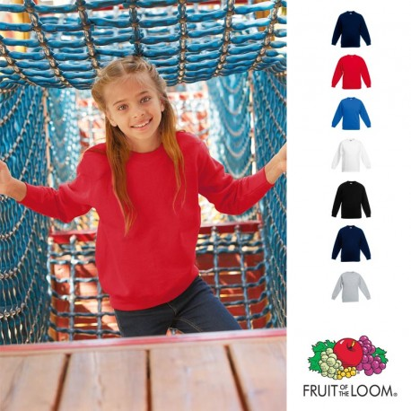 Sweat-shirt publicitaire pour enfant col rond Fruit of the Loom