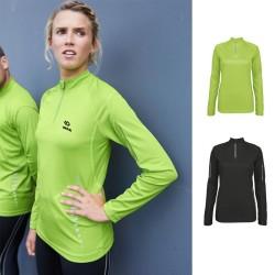 T-shirt technique personnalisé femme manche longue 1/4 zip