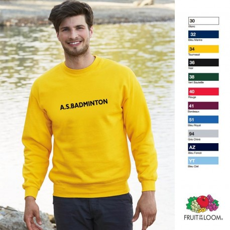 Sweat-shirt publicitaire col rond Fruit of the Loom