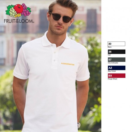 Polo Heavy Fruit of the Loom 230 g/m² publicitaire
