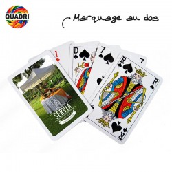 Jeu de 52 cartes + 3 jokers POKER