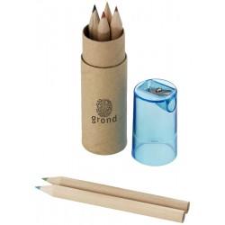 Boite de mini-crayons avec taille crayon