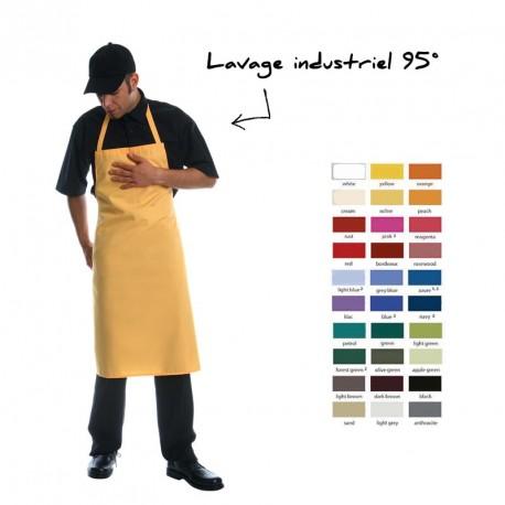 Tablier à bavette coloré personnalisé