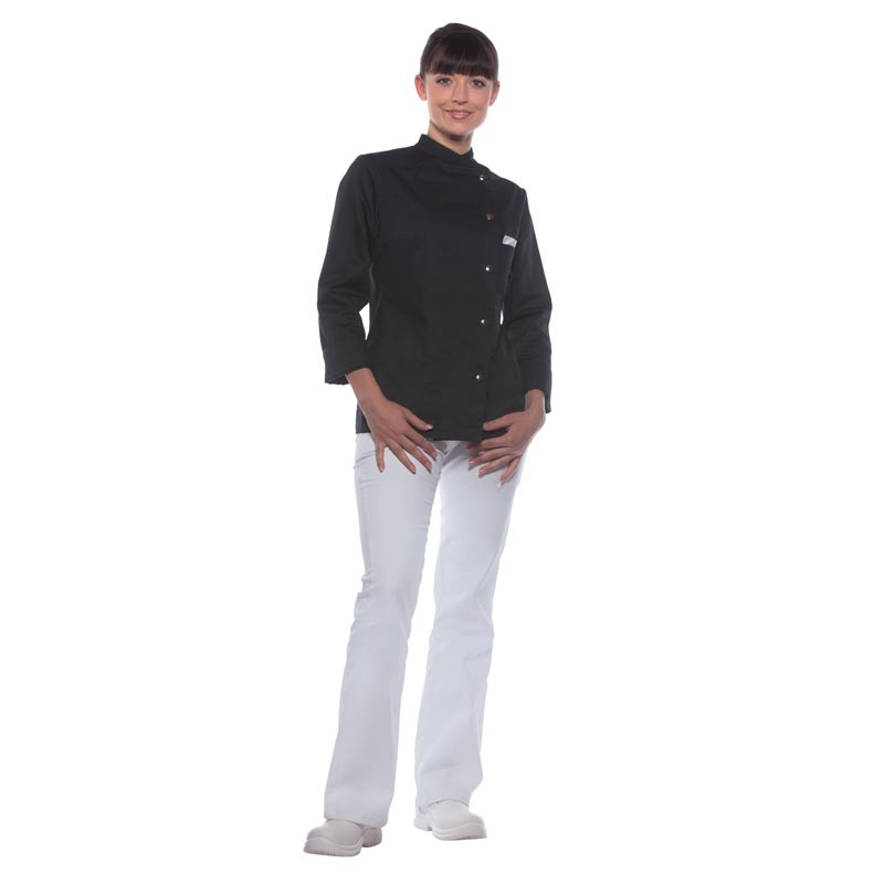veste de cuisine pour femme personnalis e veste cuisine color e. Black Bedroom Furniture Sets. Home Design Ideas
