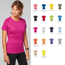 T-shirt de sport publicitaire pour femme.