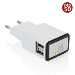 Prise chargeur double USB personnalisée
