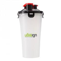 Shaker publicitaire 2 compartiments hermétiques pour protéines