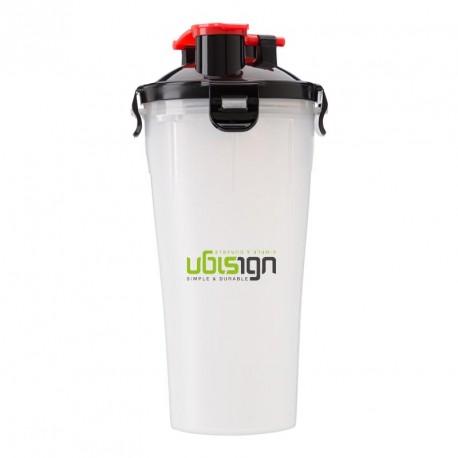 Shaker publicitaire 2 compartiments hermétique pour protéine