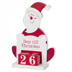 Père Noël publicitaire avec décompte des jours