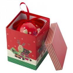 Boîte à musique de Noël avec boule de Noël
