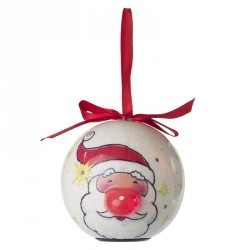 Boule de Noël lumineuse personnalisée