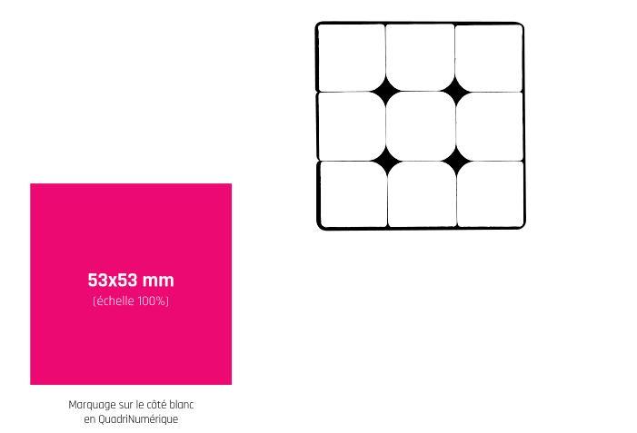 cube casse-tête personnalisé - zone de marquage