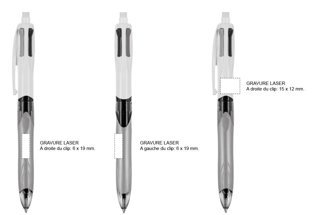 zone personnalisation stylo BIC 4 couleurs porte mine HB